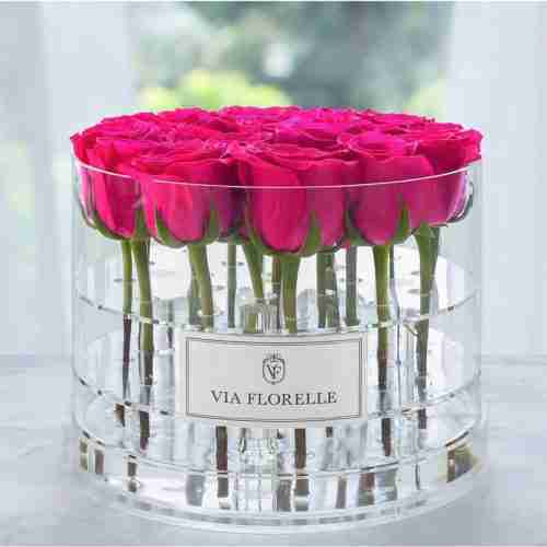 Custom wholesale clear acrylic rose box