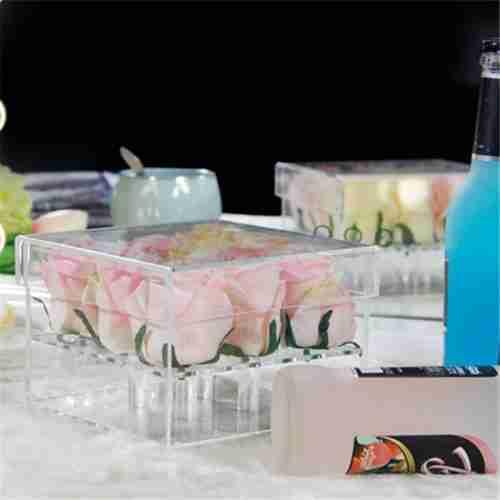 Custom Wholesale Acrylic Flower Box With Lid