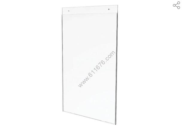 11x17 acrylic signage frame customization