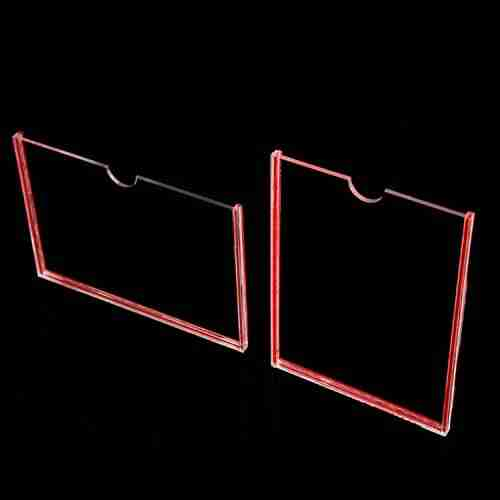 11x17 horizontal wall mount acrylic sign holder clear