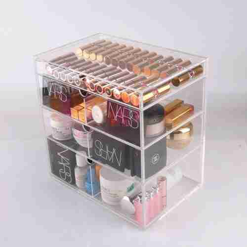 Custom Acrylic Drawer With Cosmetic Holder