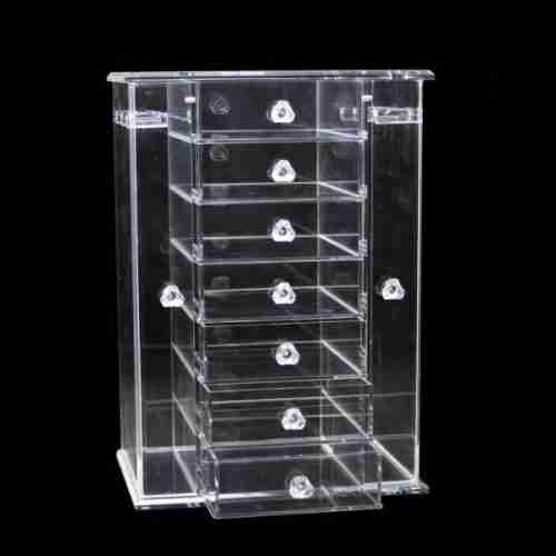 Acrylic accessories display cabinet with drawers
