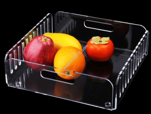 Clear acrylic tray with handles