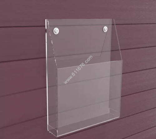 Acrylic wall mounted brochure holders
