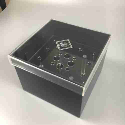 Custom Black Acrylic Preserved Roses Holder Flower Box