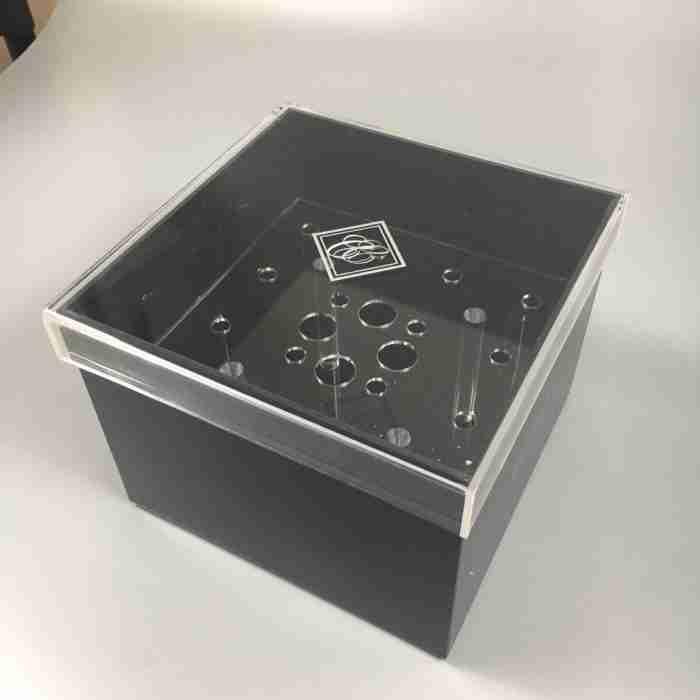 Custom Black Acrylic Preserved Roses Holder Flower Box