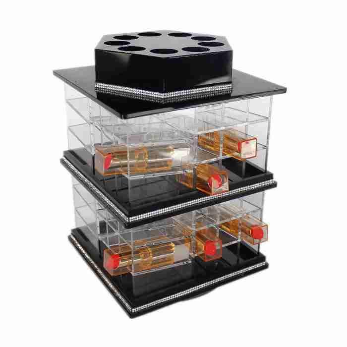 Acrylic makeup storage box