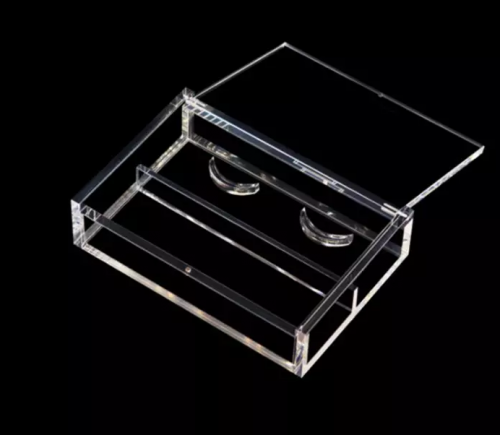 white acrylic box with lid