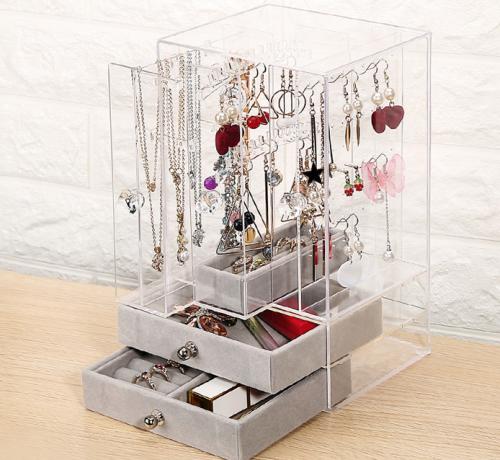 Acrylic earring storage