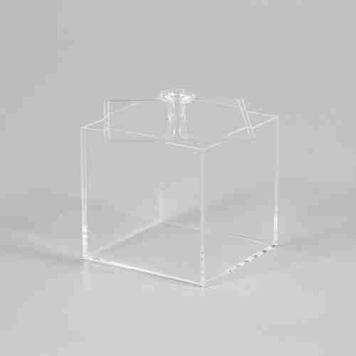 Plexiglass Square Small Clear Acrylic Box