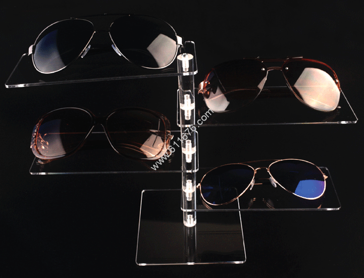 Acrylic glasses display stand multi-layer rotation