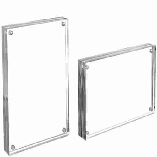 Clear Double Acrylic Picture Frame 5x7