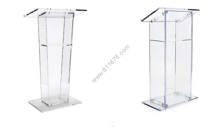 Custom acrylic podium