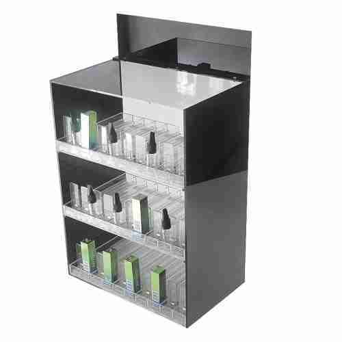Tray Clear Acrylic Liquor Bottle Display Stand With Pusher