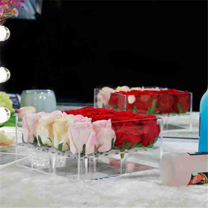 New Environmental Acrylic Materia Rose Box For Whosale