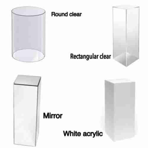 Clear Acrylic Display Pedestal Acrylic Plinth