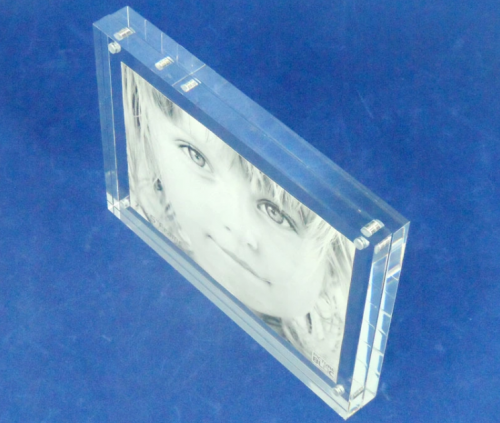 Machine glass acrylic magnet photo frame