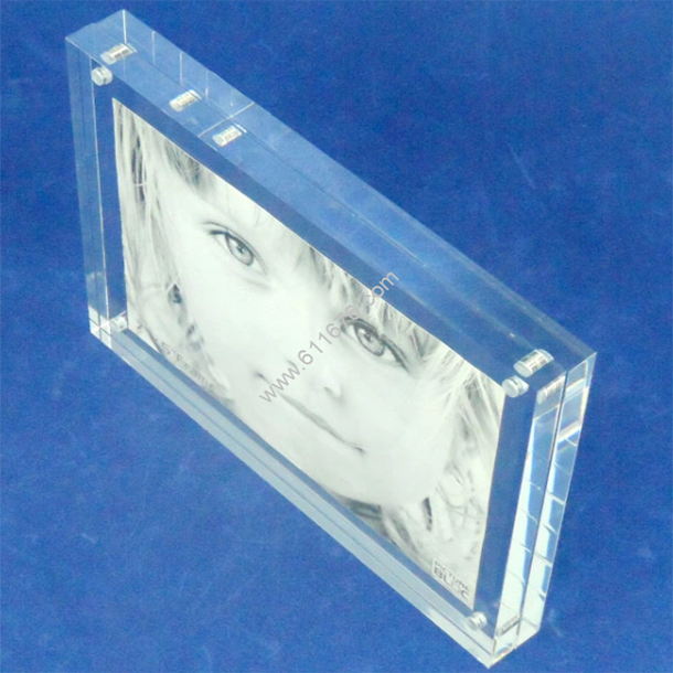 Machine glass acrylic magnet photo frame