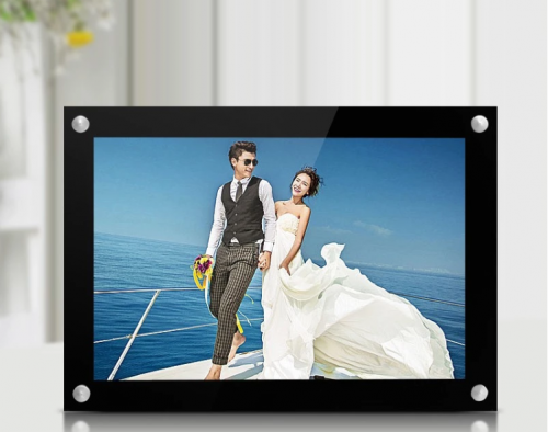 Black edging acrylic photo frame a4 size