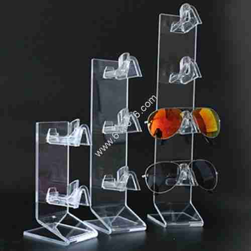 Transparent glasses display stand acrylic