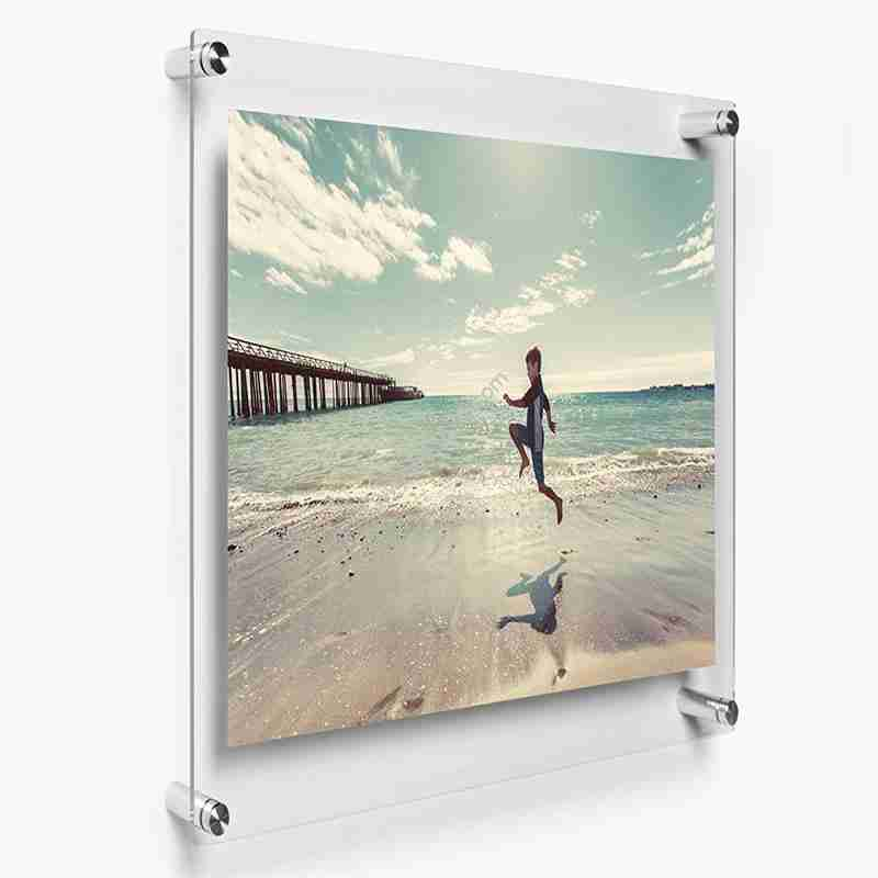 A4 Floating Acrylic Poster Pictures Frame For Wedding