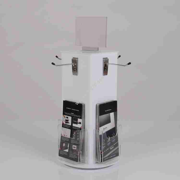 perspex display units