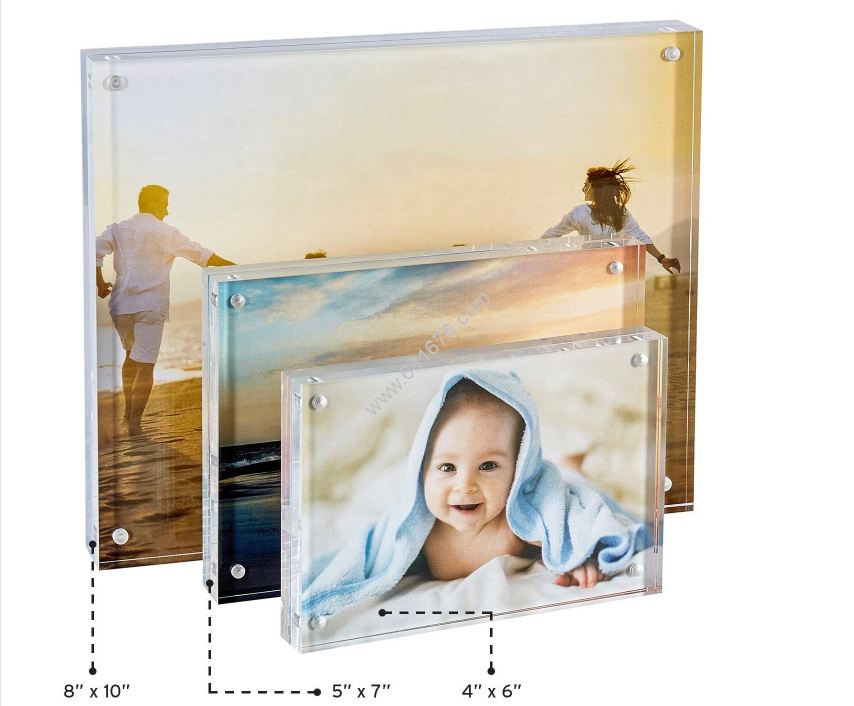 Custom acrylic magnetic picture frames 8x10