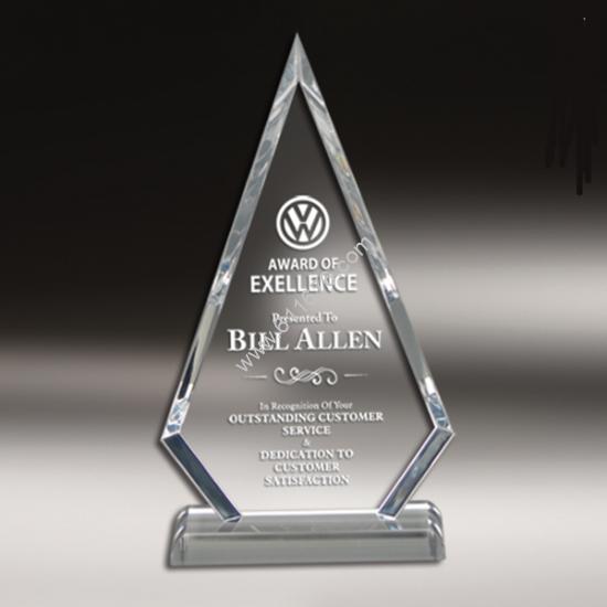 Clear Custom Shape Acrylic Trophy