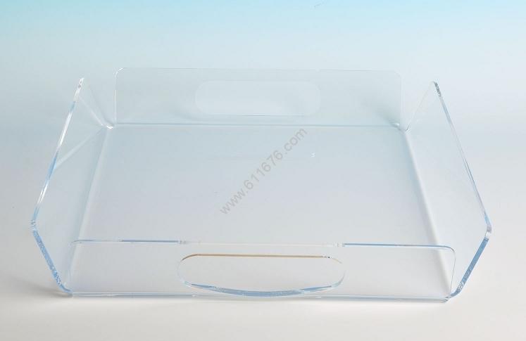 Extra large clear acrylic tray