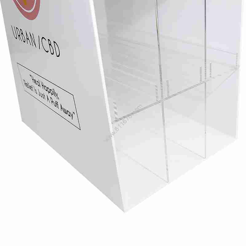 Custom Large White Acrylic Display Case Lucite Display Cabie