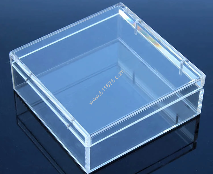 small acrylic box with lid