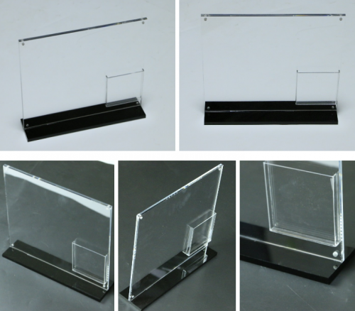Counter Top Freestanding Clear Acrylic A4 Poster Holder