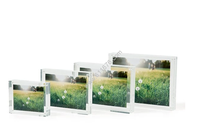 Acrylic 5x7 photo frame with magnetic