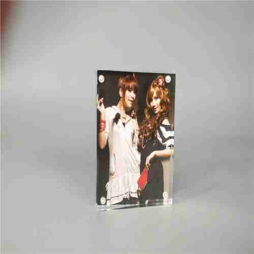 Plexiglass acrylic magnet photo frame custom processing