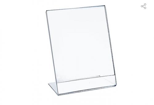 Vertical tilt 11x17 acrylic signage frame