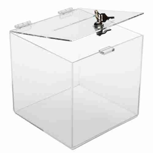 Custom Clear Acrylic Money Box