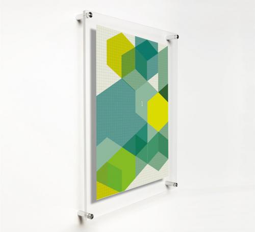 Custom acrylic photo frames wall mount