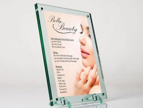 Bulk acrylic photo frame advertising