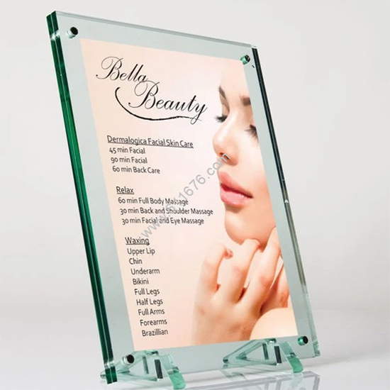 Bulk acrylic photo frame advertising