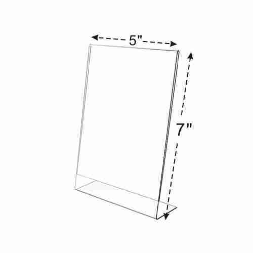 5x7 slant back acrylic sign holder