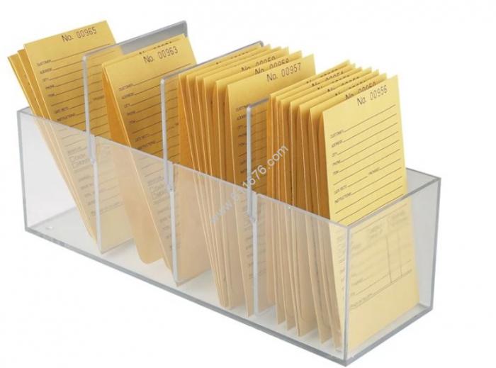 Clear acrylic file box