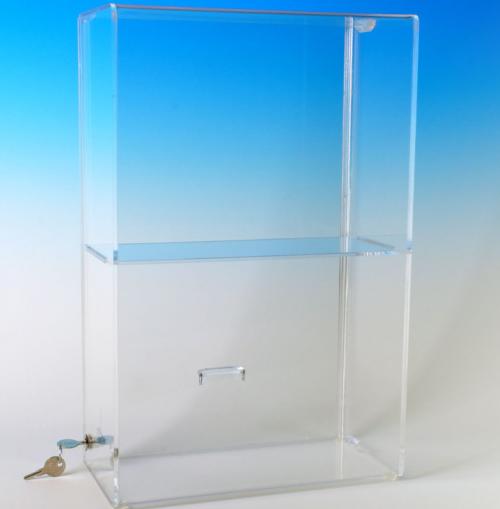 Locking Security Case with 1 Shelf