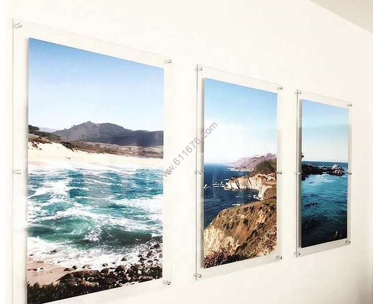 Custom acrylic photo frames wall mount