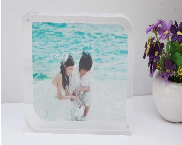 Custom factory direct acrylic magnetic photo frame