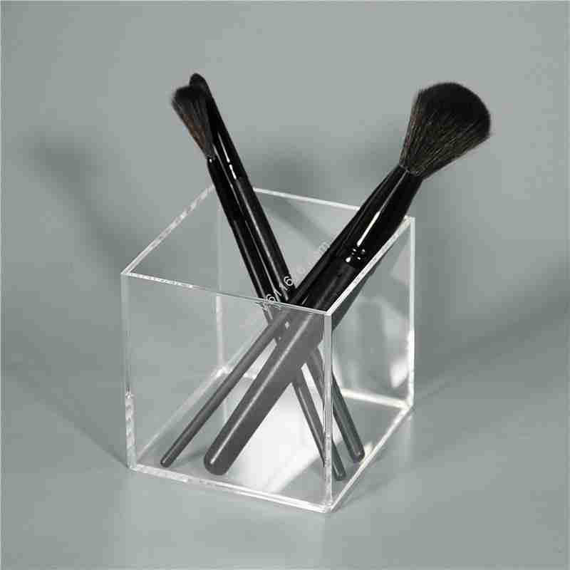 Square Clear Acrylic Makeup Brush Holder