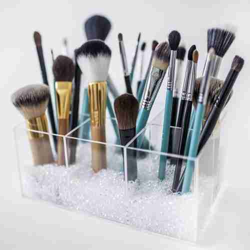 Acrylic 6 Divided Parts Makeup Brush Holder