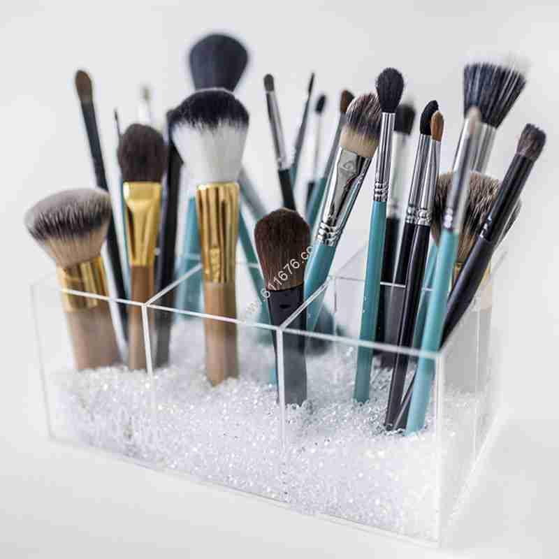 Acrylic 6 Divided Parts Makeup Brush Holder