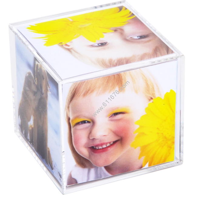 Wholesale Clear Acrylic Cube Picture Frame