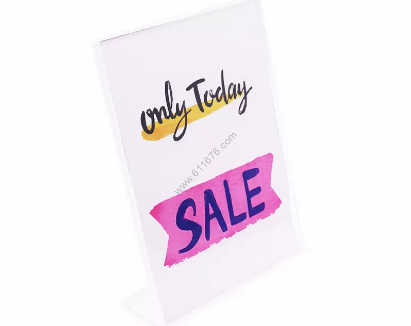 Factory Directly Transparent 5x7 Acrylic Slanted Sign Holder