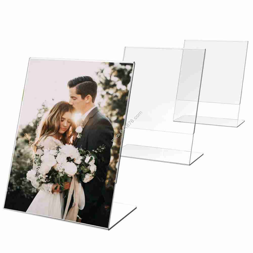 Clear acrylic 5x7 sign holder